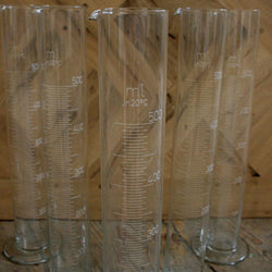 Glass measuring beakers