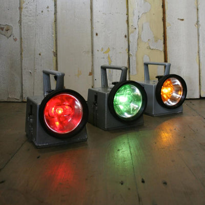 Vintage signal lights from London Underground