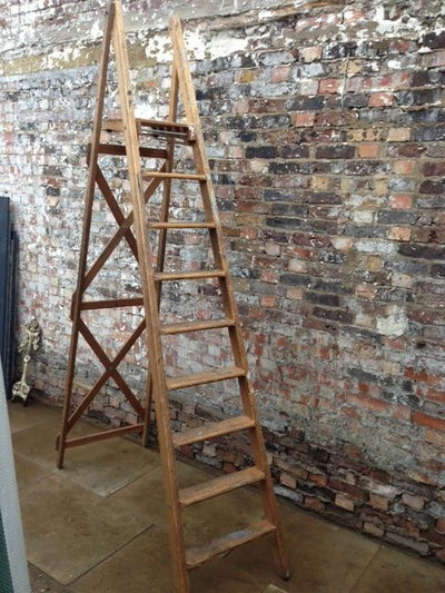 Original large wooden ladder