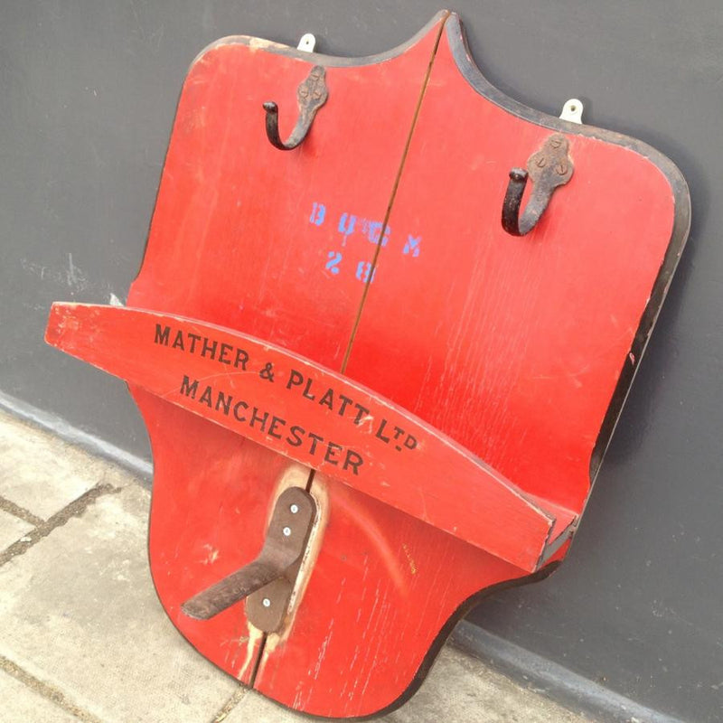 Reclaimed fire extinguisher mount