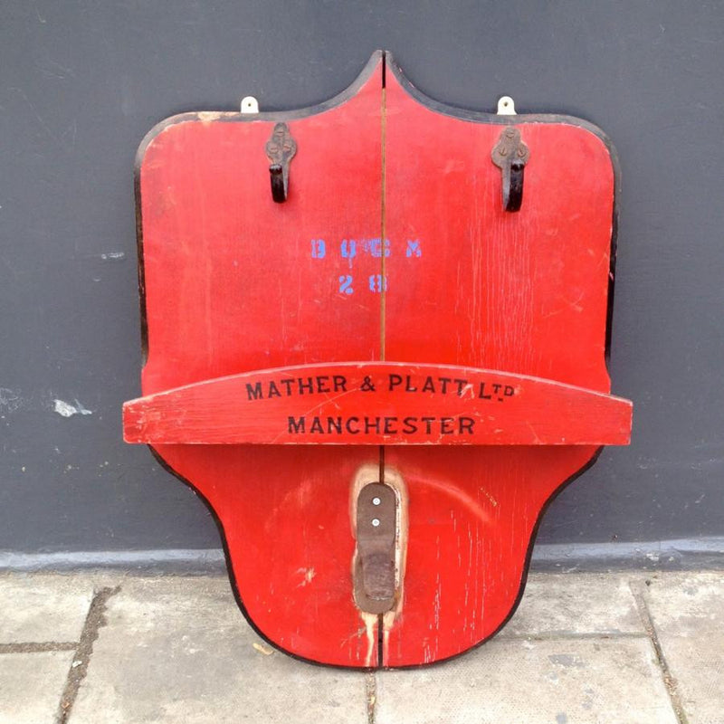 Vintage Wooden Fire Hose Mount - architectural-forum