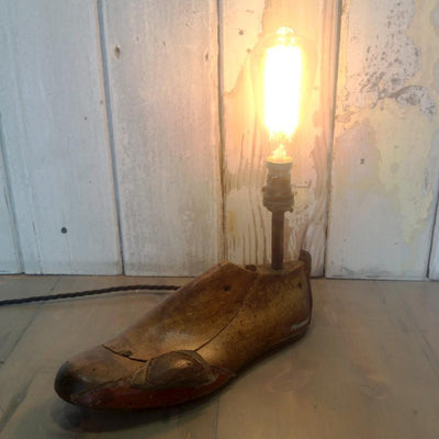 Vintage Cobbler Shoe Last Lamp - architectural-forum