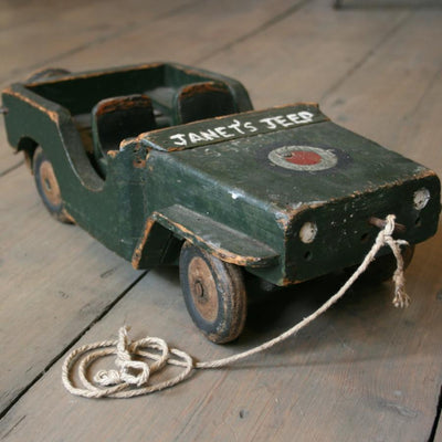 Vintage Wooden Toy Jeep - architectural-forum