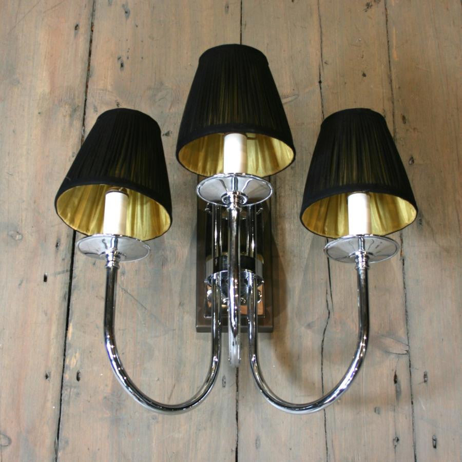 Reclaimed Chrome Wall Lights - architectural-forum