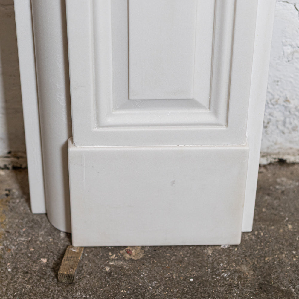 Reclaimed Victorian Style Statutory White Marble Chimneypiece | The Architectural Forum