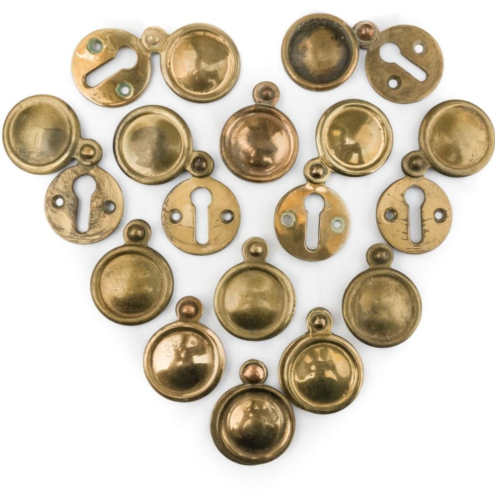 Reclaimed Solid Brass Escutcheons | The Architectural Forum