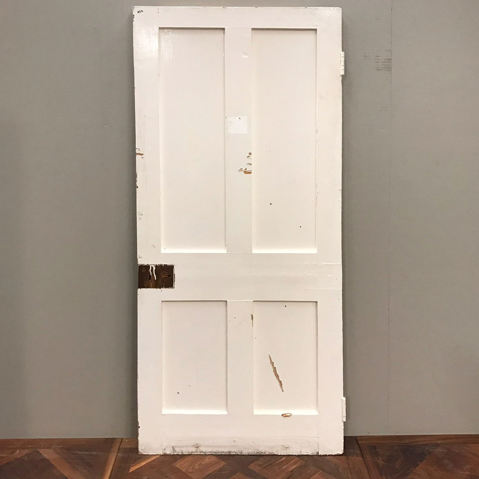 Reclaimed Victorian Four Panel Door - 203cm x 85cm x 5cm - architectural-forum