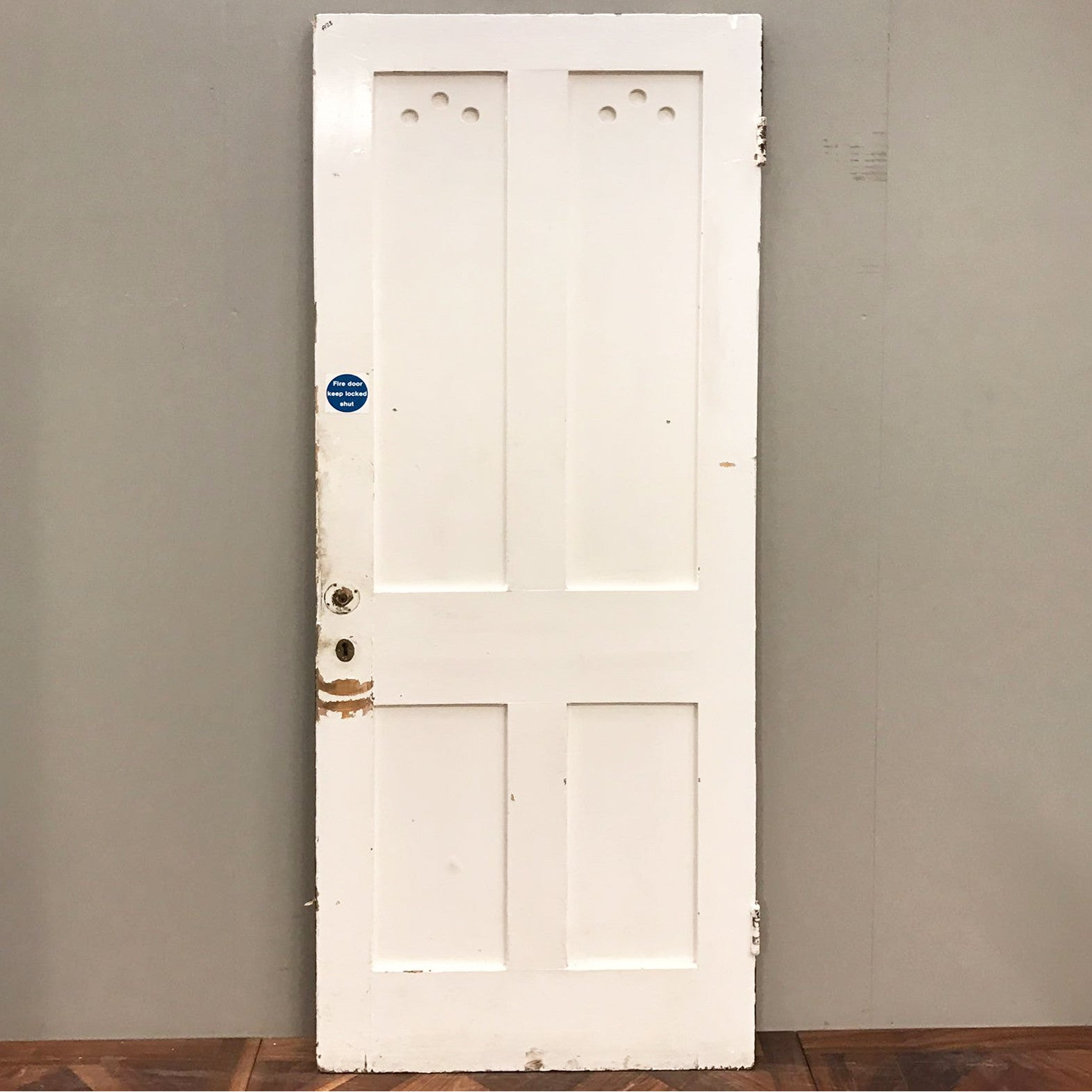 Reclaimed Victorian Four Panel Door - 206cm x 80cm x 4.5cm - architectural-forum