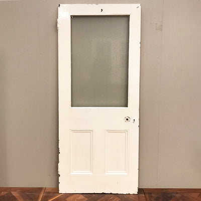 solid pine door with window
