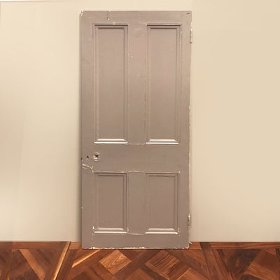 painted solid pine door