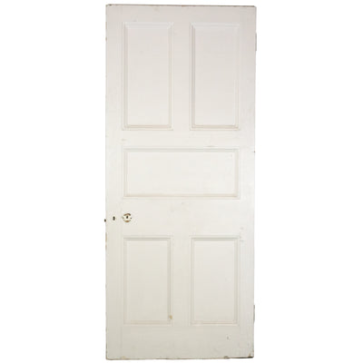 Antique Victorian Five Panel Door - 210cm x 89cm