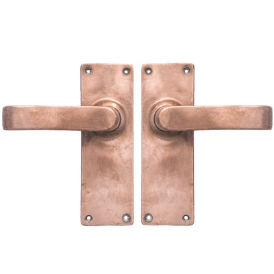 Art Deco Rose Brass Lever Door Handles - The Architectural Forum