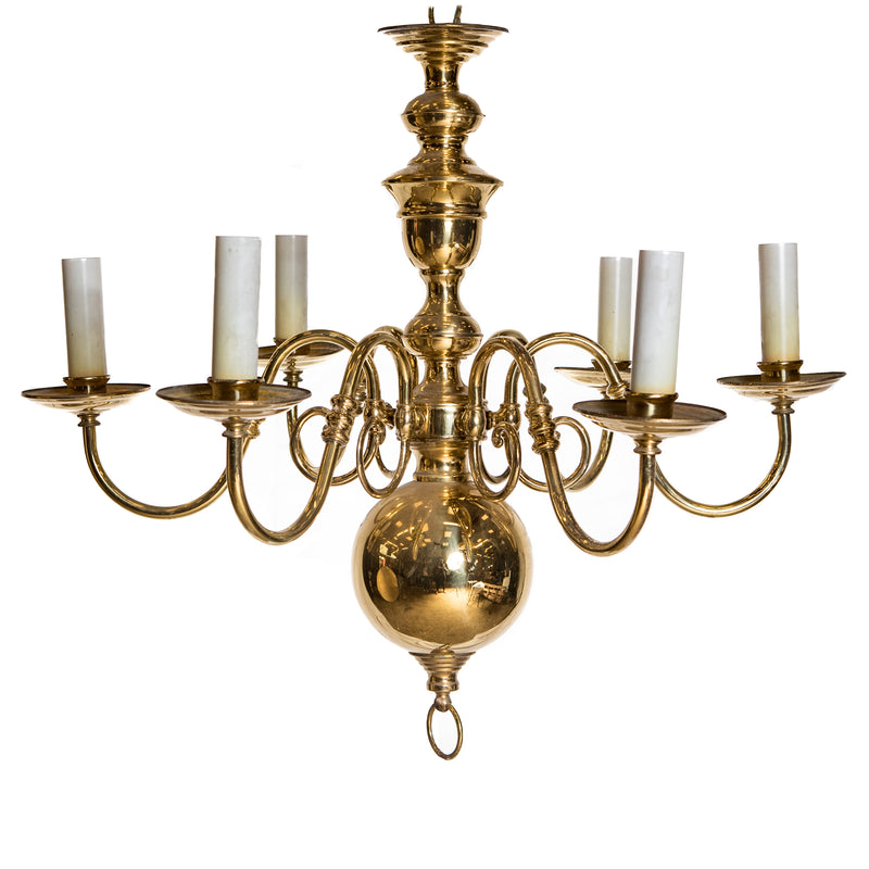 Reclaimed Antique Brass Chandelier