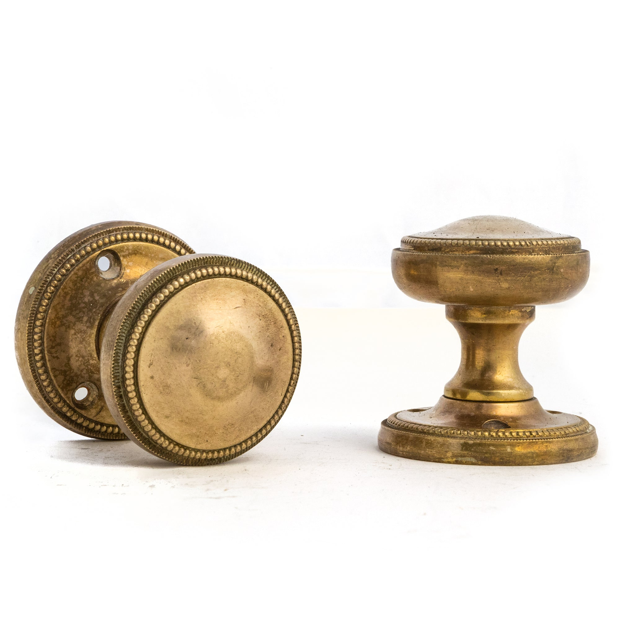 Pair of Antique Solid Brass Door Knobs