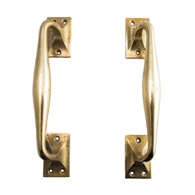 Reclaimed Art Deco Brass Door Pull Handles - architectural-forum