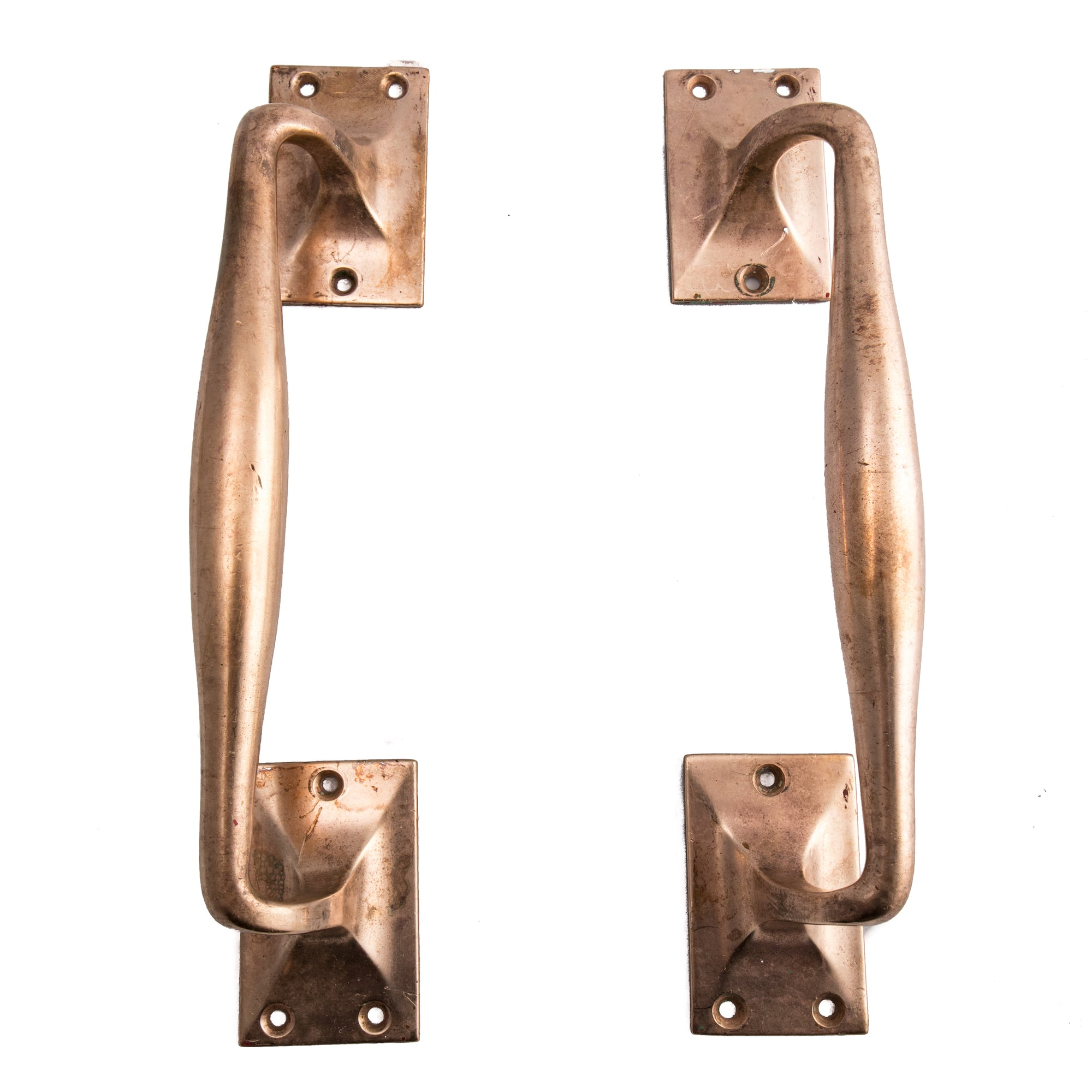 Reclaimed Art Deco Rose Brass Door Pull Handles | The Architectural Forum