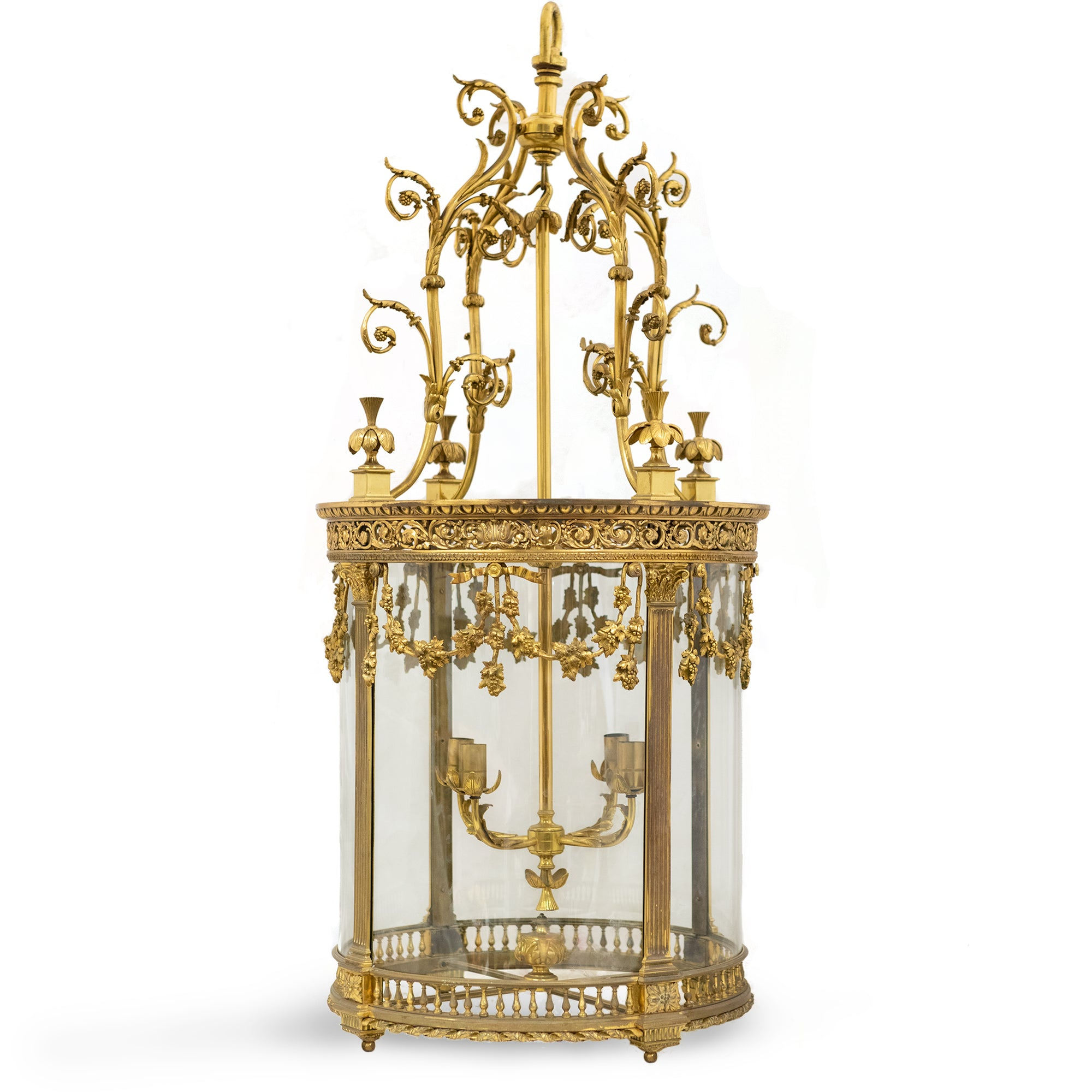 Reclaimed Antique Oversized Ornate French Brass Lantern | The Architectural Forum