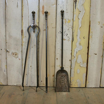 Antique Cast Iron Fire Iron Set - The Architectural Forum