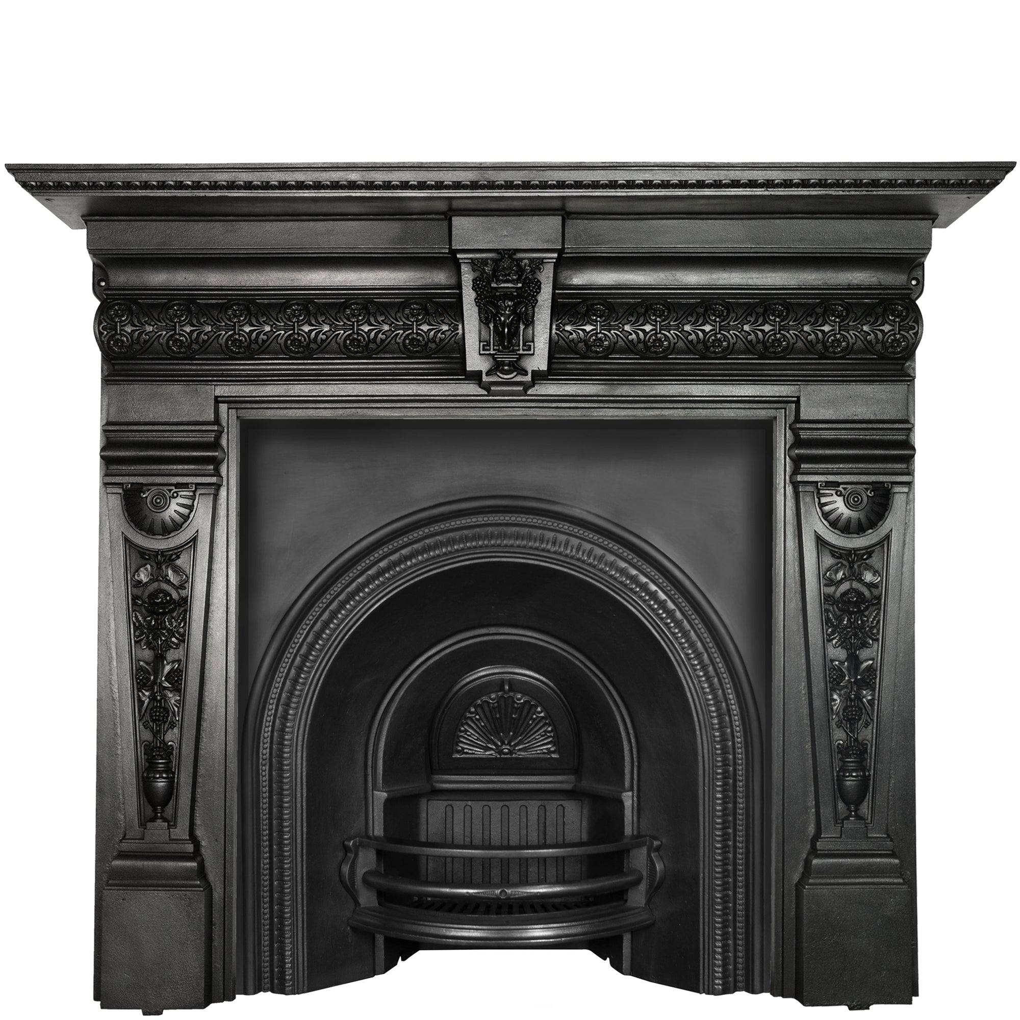 Antique Cast Iron Fireplace Surround with Rams Head | The Architectural Forum