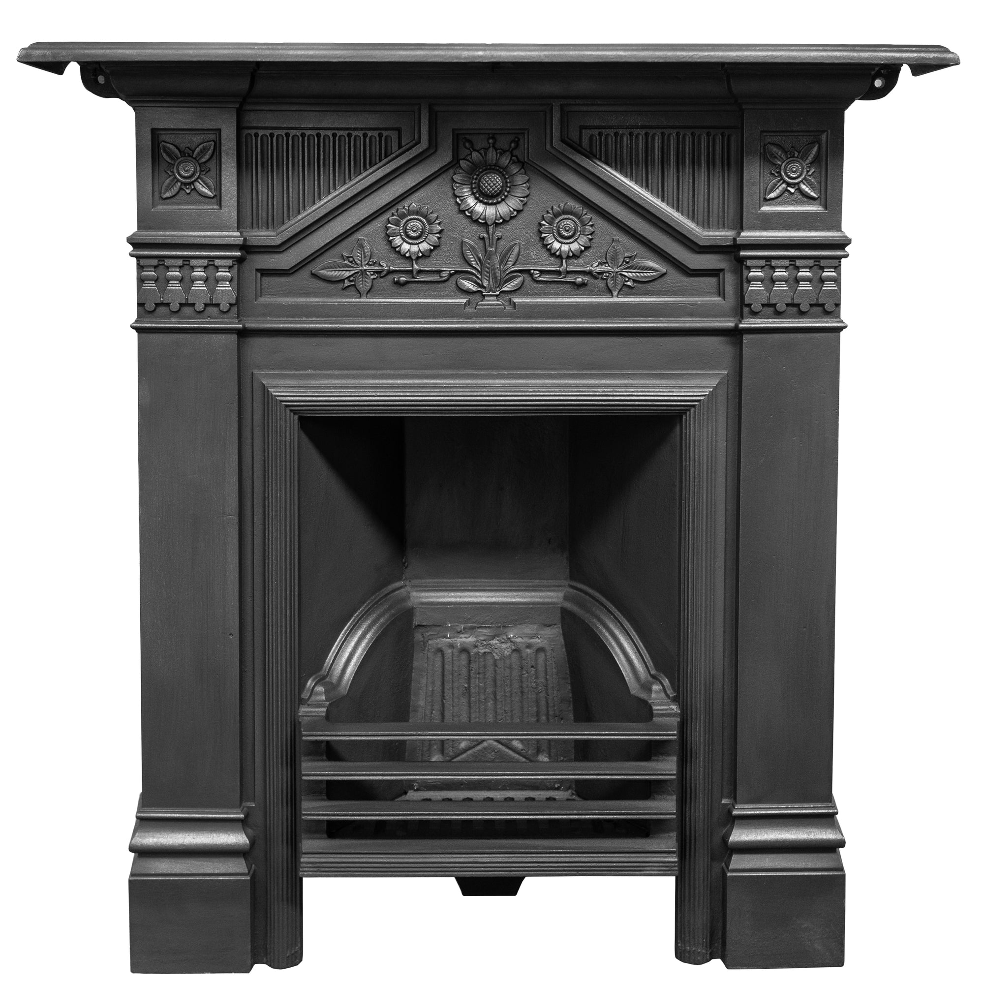 Antique Late Victorian, Early Edwardian Cast Iron Combination Fireplace - The Architectural Forum