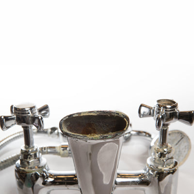 Reclaimed Chrome Mixer Bathroom Taps - architectural-forum
