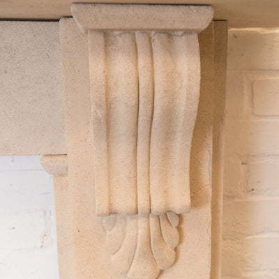 Antique Victorian Bath Stone Fireplace Surround - The Architectural Forum