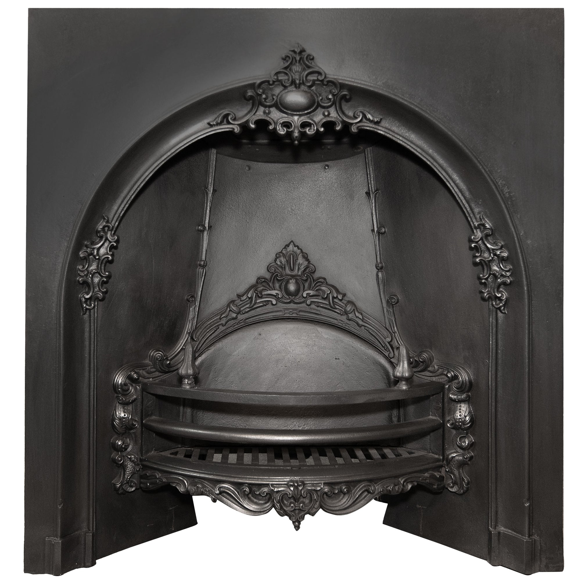 Antique Victorian Cast Iron Fireplace Arched Insert - The Architectural Forum