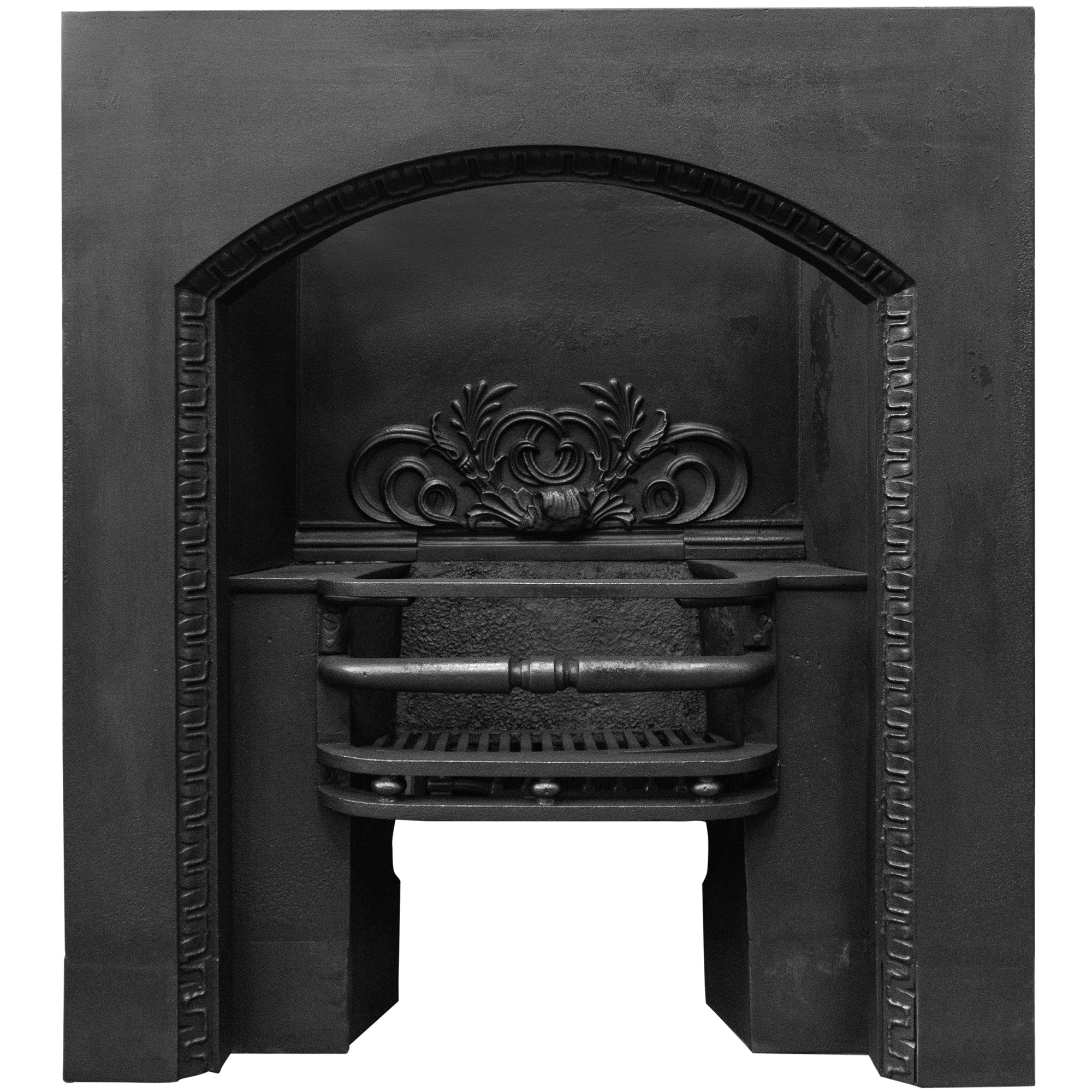Antique Victorian Cast Iron Fireplace Insert (pair available) - architectural-forum