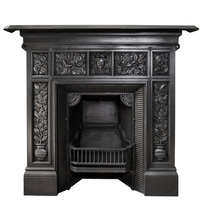Antique Cast Iron Combination Fireplace - The Architectural Forum