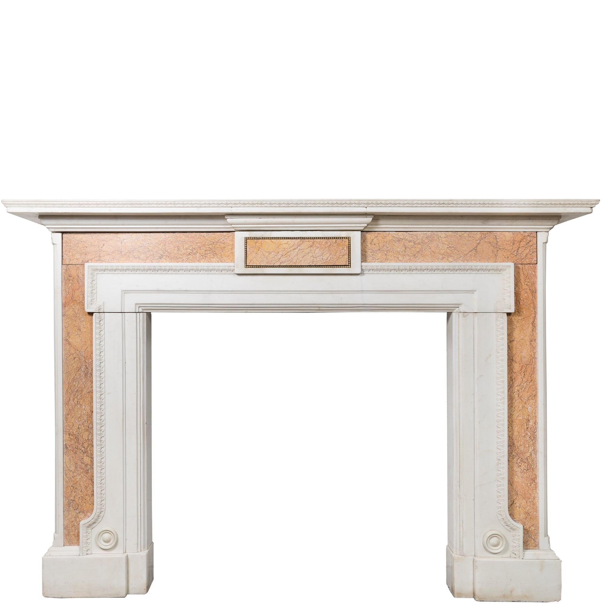 Antique Brocatelle Marble Fireplace Surround | The Architectural Forum