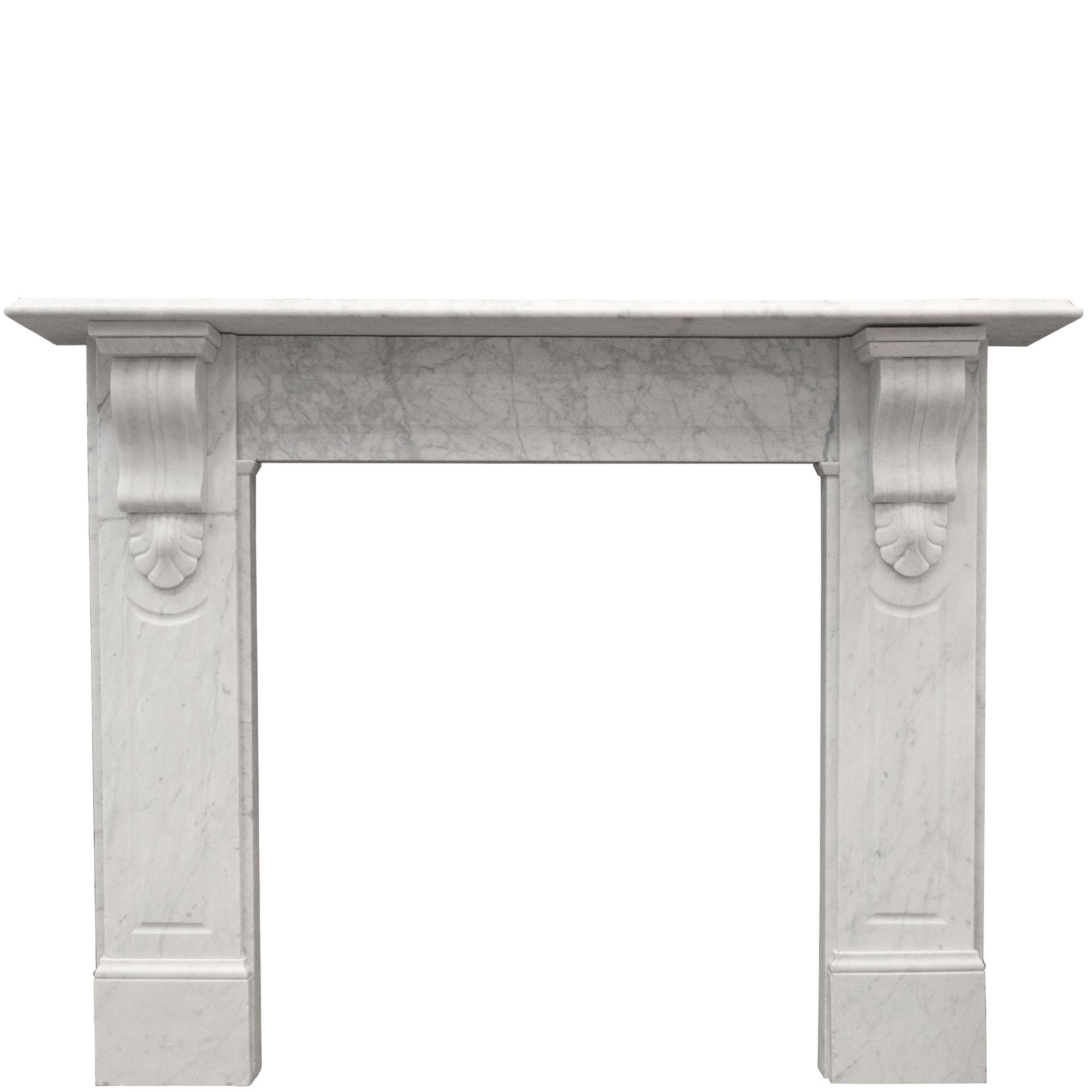 Antique Victorian Carrara Marble Corbel Fireplace Surround - The Architectural Forum