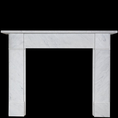 Victorian Style Carrara Marble Fireplace Surround