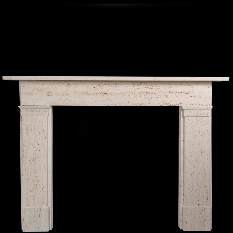 Georgian/Victorian Style Travertine Marble Fireplace Surround - architectural-forum