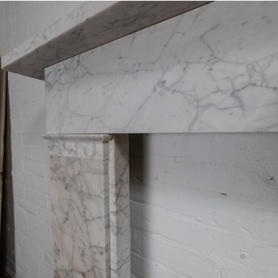 Antique Victorian Pencil Vein Marble Fireplace