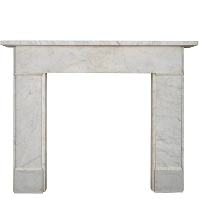 Antique Carrara Marble Crossover Fireplace Surround