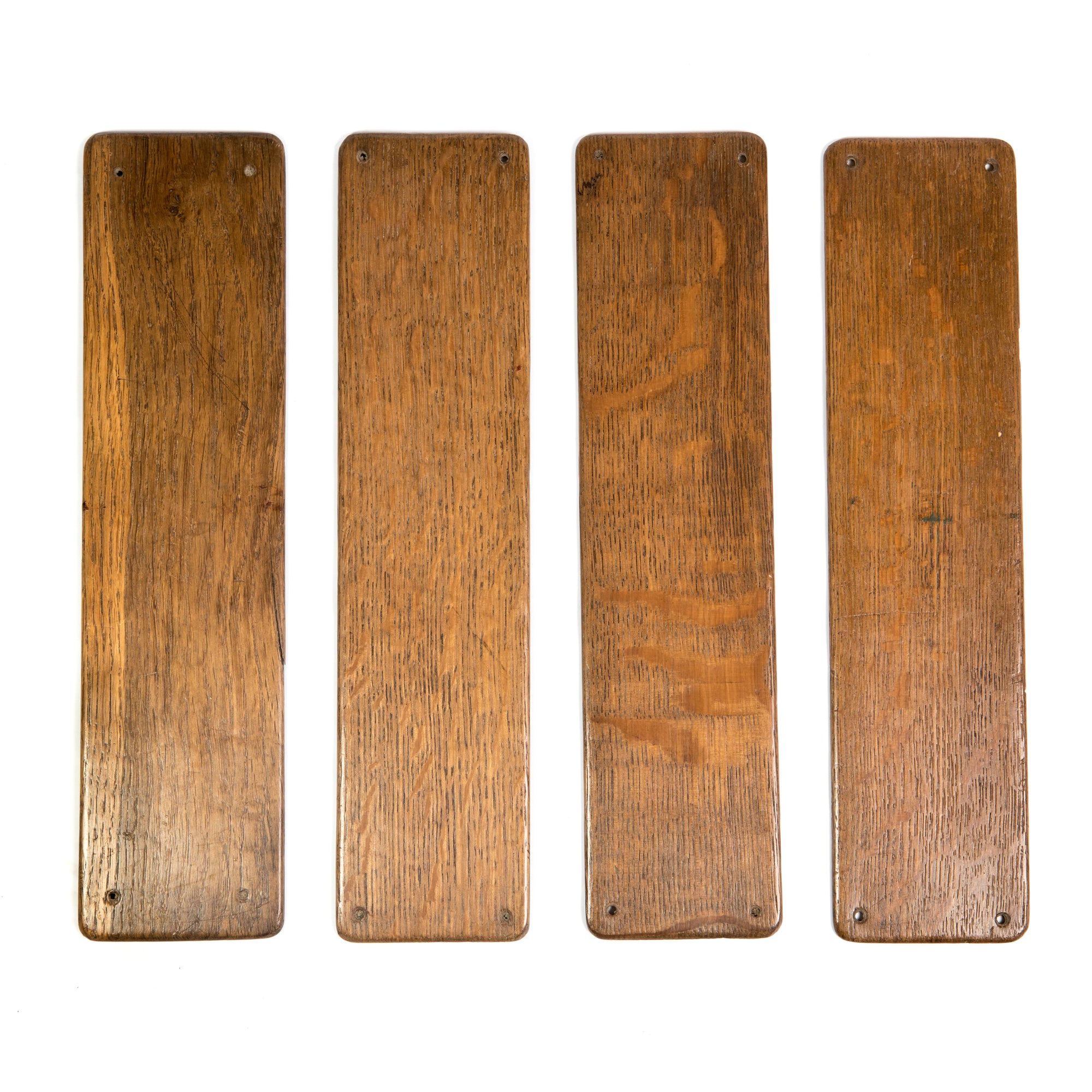 A pair of Antique Oak Finger Plates - architectural-forum