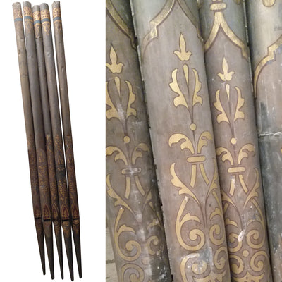 5 Antique Church Organ Pipes - The Architectural Forum