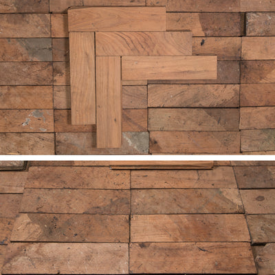 Antique Reclaimed Teak Parquet Flooring 14m² - architectural-forum
