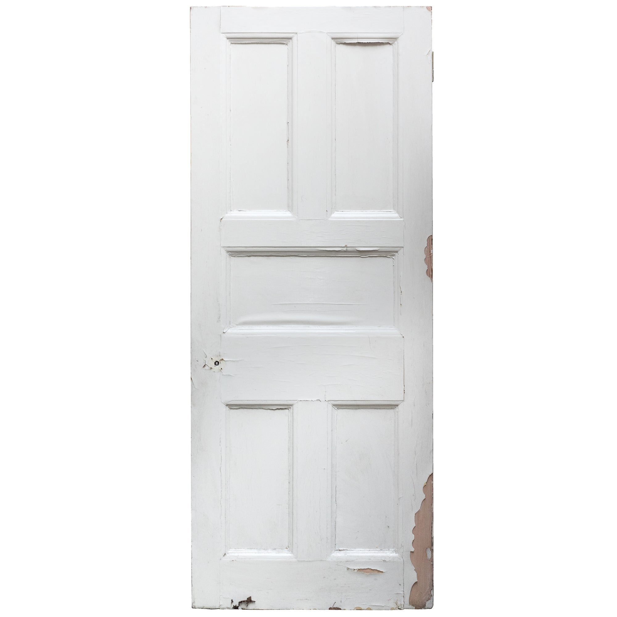 Antique Victorian Five Panel Door - 206.5cm x 79.5cm