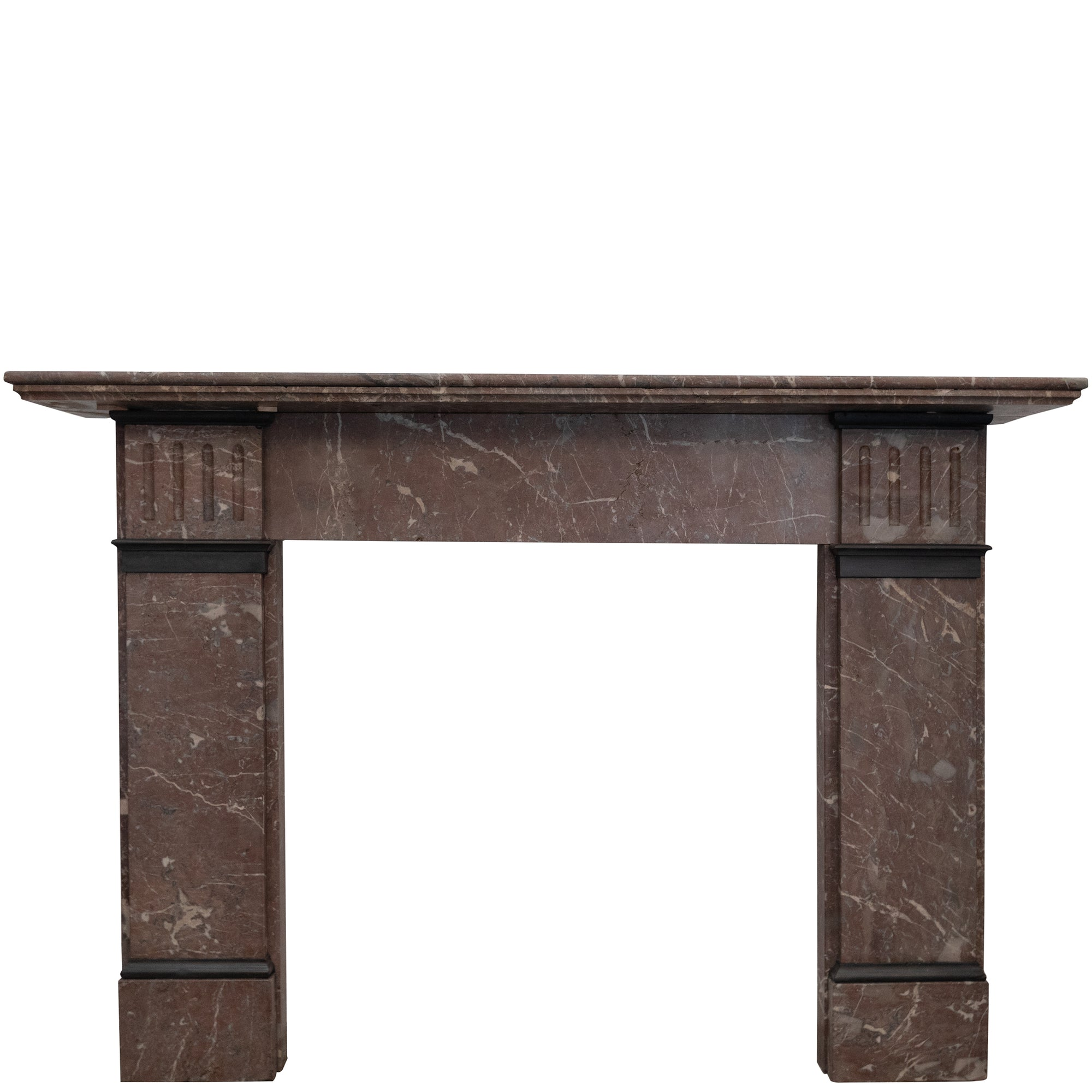 Antique Edwardian Rouge Royal Marble Fireplace Surround | The Architectural Forum