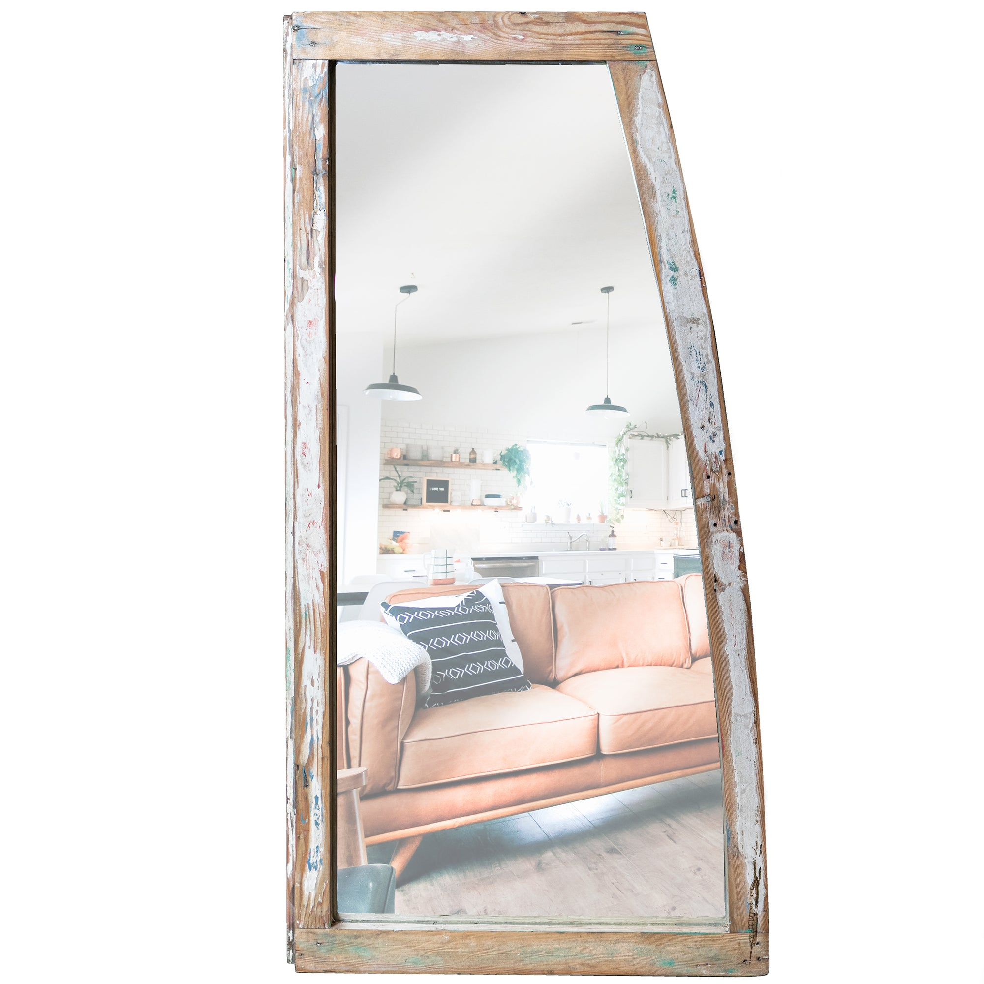 Upcycled Antique Victorian Sash Window Mirror