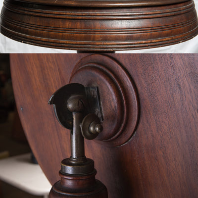 Antique Victorian Mahogany Shaving Stand - architectural-forum