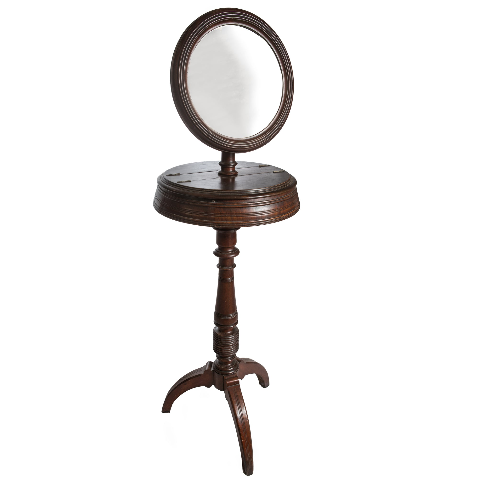 Antique Victorian Mahogany Shaving Stand - The Architectural Forum
