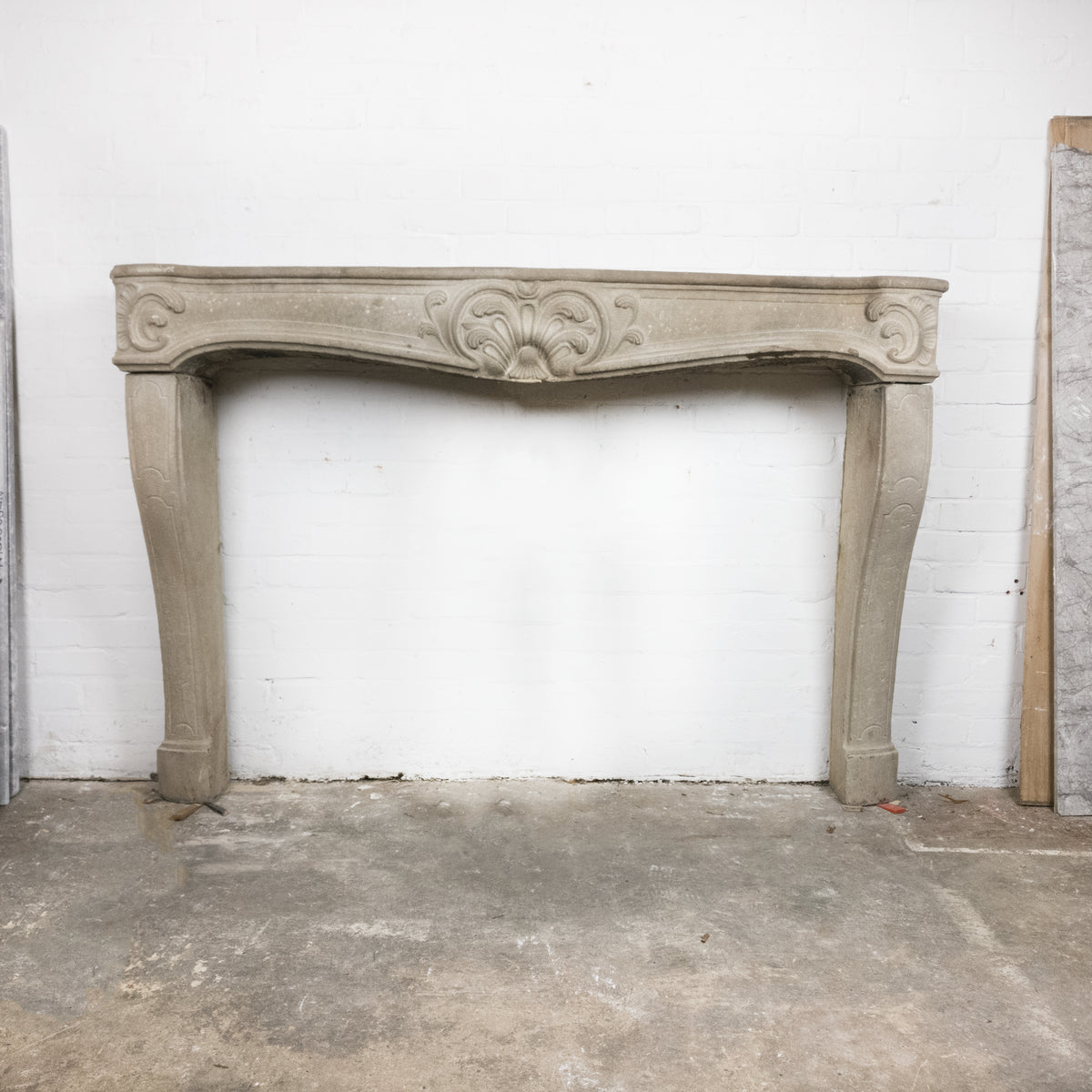 Spectacular Antique 19th Century Stone Fireplace Surround Louis XV | The Architectural Forum