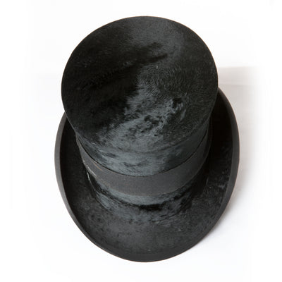 Antique Top Hat with Leather Hat Box - The Architectural Forum