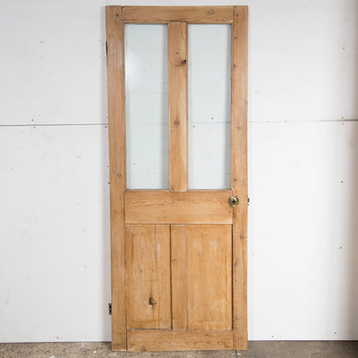 Glazed Victorian 4 Panel Door  - 182cm x 72.5cm x 2.8cm