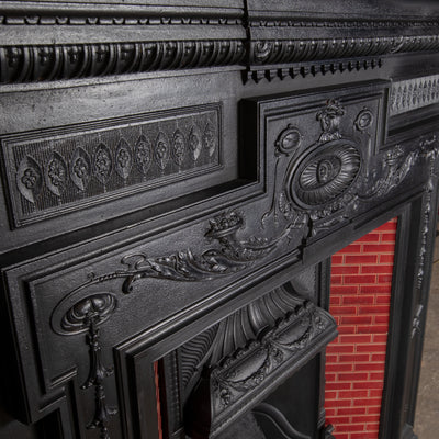 Antique Victorian Tiled Combination Fireplace - The Architectural Forum