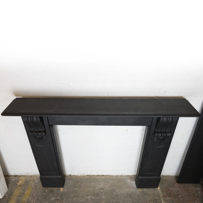 Antique Victorian Slate Fireplace Surround With Corbels