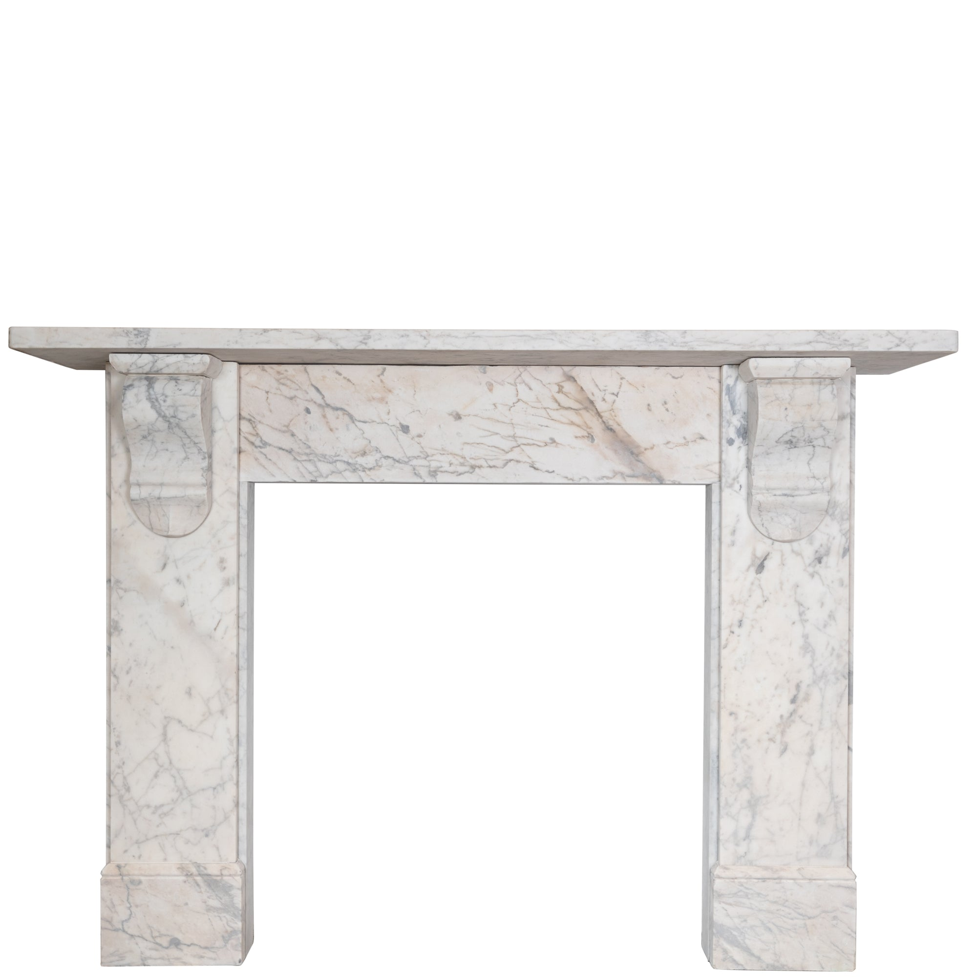 Antique Victorian Carrara Marble Corbel Fireplace Surround - architectural-forum