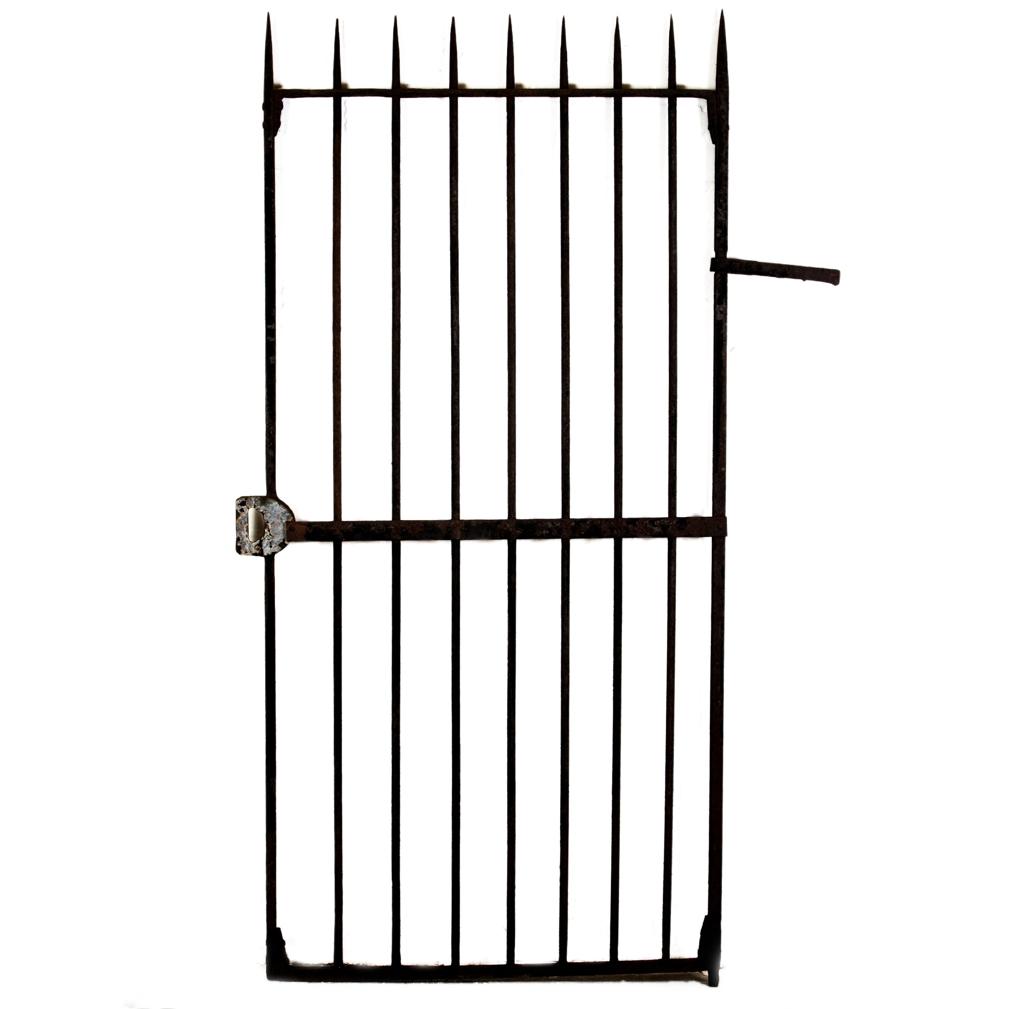 Antique Wrought Iron Gate with Spikes